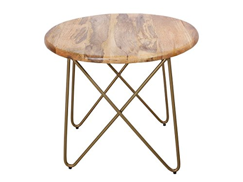 Diwali Gifts Stylish Wooden Round Coffee End Table 24 x 20