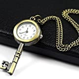 Court Table Key Pocket Watch Necklace Wall Chart Pendant Bronze