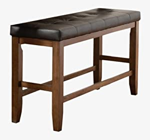 Counter Height Upholstered Bench : com: Homelegance Kirtland Counter Height Leatherette Upholstered Bench ...