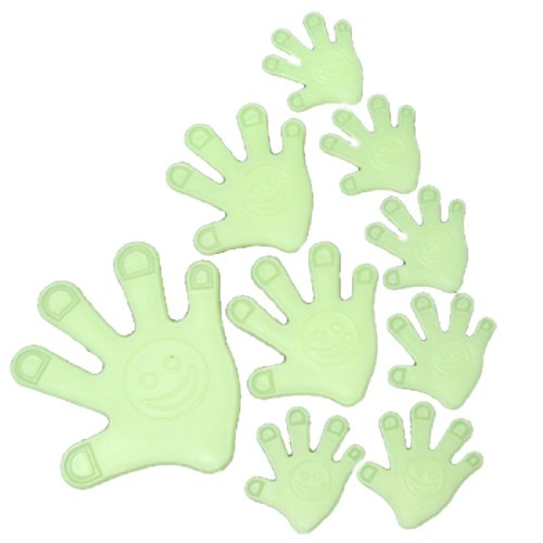 Palm Shaped Glow In The Dark Wall Sticker Baby Room Nursery