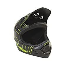 T.H.E. Industries Adult The Point5 Abs Helmet, Large, Slant Black/Green