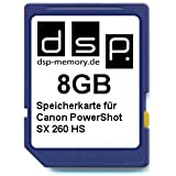 DSP Memory Z-4051557402515 8GB Speicherkarte f�r Canon PowerShot SX260 HS