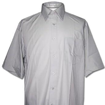 Men's Short Sleeve DARK GREY Dress Shirt size Small