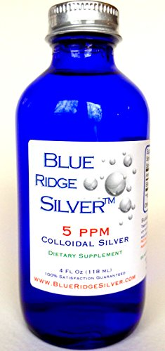 SALE 40% OFF!! - Blue Ridge Silver, 4 oz Glass Bottle Colloidal Silver