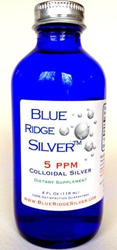 SALE 40% OFF!! - Blue Ridge Silver, 4 oz Glass Bottle Colloidal Silver