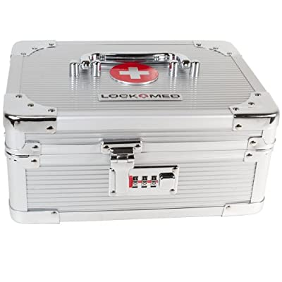 "Lockmed Medium Combination Lockbox Size Approximately 10"" (L) x 7.5"" (W) x 5"" (H)"