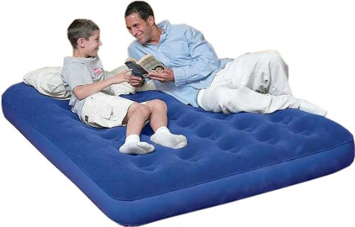 Double Flocked Airbed Mattress Inflatable Air Bed for Guests Camping Trips