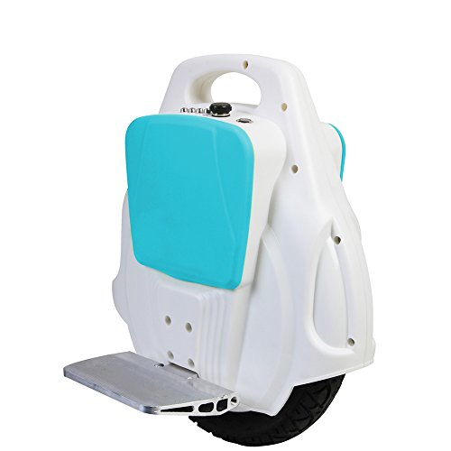 LUCKYBIRD New X3 more Powerful and Upgrade Self Balance Electric Unicycle Scooter One wheel Black 10kg (White with blue)