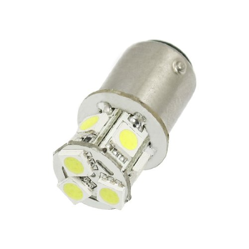 Sodial(R) Car 2057 2357 2396 Bay15D 5050 Smd 8 Led White Brake Stop Tail Light Bulb 12V
