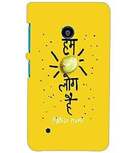 NOKIA LUMIA 530 HUM MANGO LOG HAI Back Cover by PRINTSWAG