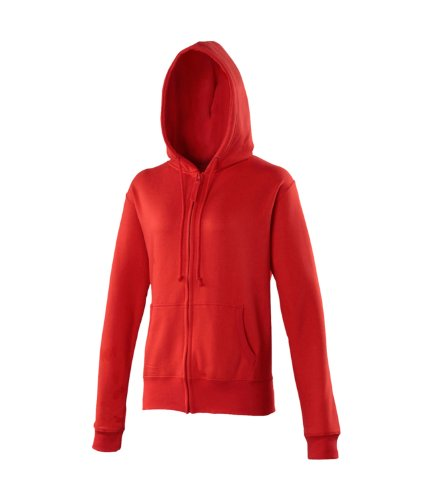 Awdis Women'S Girly Zoodie Hoodie X-Small Fire Red