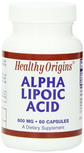 海外直送品 Healthy Origins Alpha Lipoic Acid, 60 Caps 600 Mg