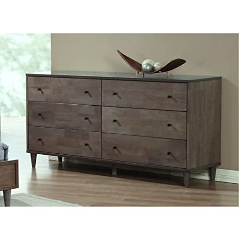 Vilas Light Charcoal 6-drawer Dresser. This Bedroom Furniture Features A Solid And Durable Wood Construction. Each Drawer Offers Ample Space For All Of Your Clothing Or Other Bedding And Linen. Tie The Decor Of Your Room Together With This Piece.