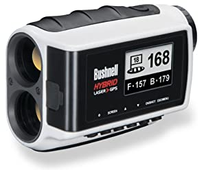 Bushnell Hybrid Laser Rangefinder and GPS Unit, White by Bushnell