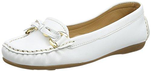 CarvelaCally - Mocassini donna, colore Bianco, taglia 4 UK (37 EU)