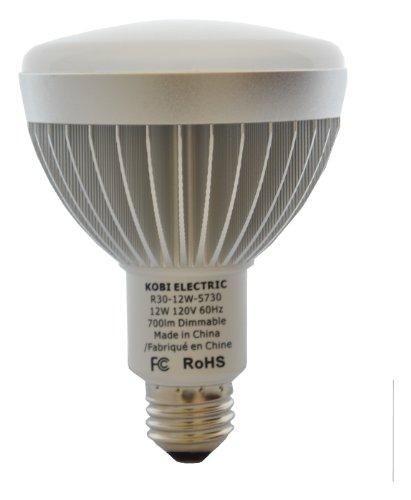 Kobi Electric Led 18-Watt (100 Watt) R30 Cool White Light Bulb, Dimmable
