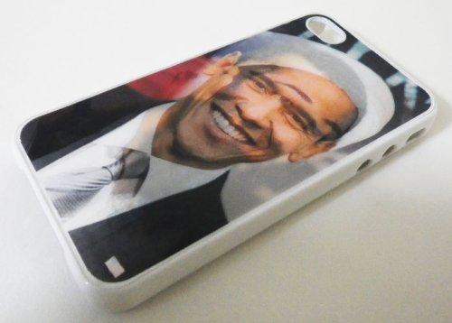 【 One2 Corporation 】 3D 変形 オバマ 米大統領 × オサマ ビンラディン iphone ケース ( iphone4 専用 ケース )