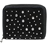 Juicy Couture Studded Velour Zip SFP Wallet Black