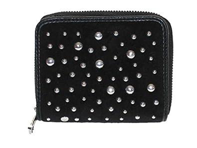 Juicy Couture Studded Velour Zip SFP Wallet Black