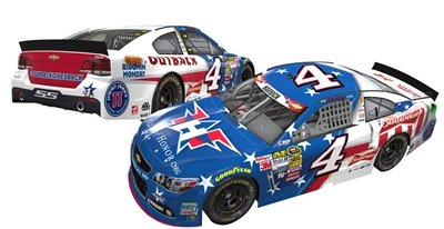 ARC HOTO Kevin Harvick #4 Budweiser/Outback Folds of Honor 2014 Chevy SS NASCAR Die-cast Car, 1:24 Scale ARC HOTO