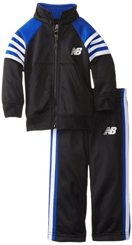 New Balance Baby-Boys Infant 2 Piece Brushed Tricot Jacket And Pant, Royal, 24 Months