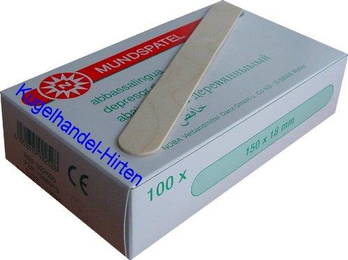 100 Holzspatel 150 x 18 mm von Noba Verbandmittel
