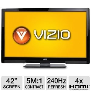 "Vizio 42"" 1080p 240Hz 3D LED HDTV"