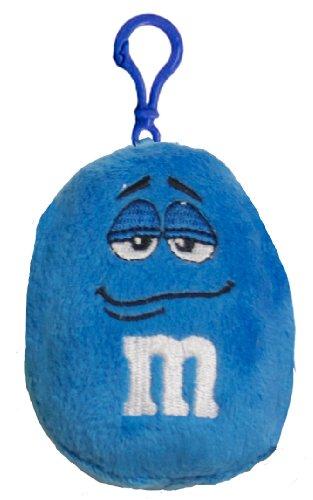 M&M Big Face Plush Clip, Blue - 1