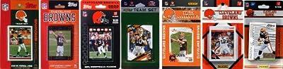 NFL Cleveland Browns 7 Different Licensed Trading Card Team Sets
