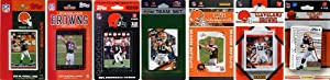 NFL Cleveland Browns 7 Different Licensed Trading Card Team Sets by C&I Collectables