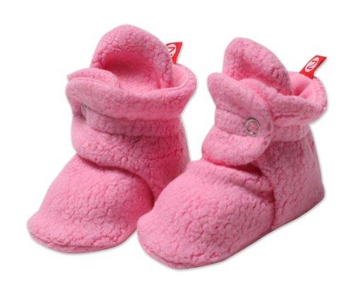 Zutano Unisex-Baby Infant Cozie Fleece Bootie, Hot Pink, 12 Months front-601353