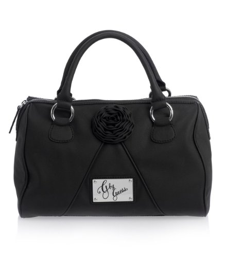 G by GUESS Miko Box Satchel, BLACK
