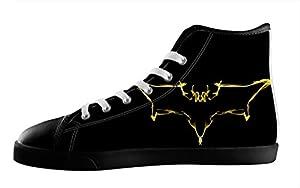 For Batman Fans High Top Lace Up Canvas Custom For Men's Shoes-11M(US)