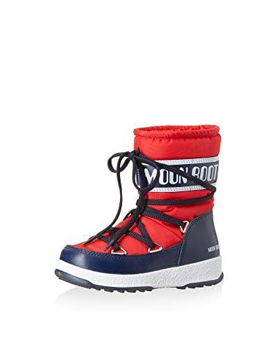 Moon Boot Stivale W.E. Sport Mid Jr [Rosso/Blu Navy]