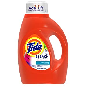 Tide with Bleach Alternative Clean Breeze Scent with Actilift, 50-Ounce