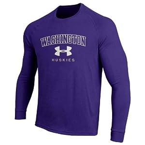 NCAA Washington Huskies Long Sleeve Performance NuTech Tee by Under Armour