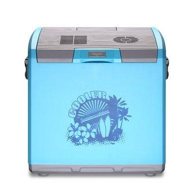 30L voiture Réfrigérateur à double usage Réfrigérateur Mini-voiture Avec haute capacité Portable Voyage portable Essential ( couleur : Bleu clair )