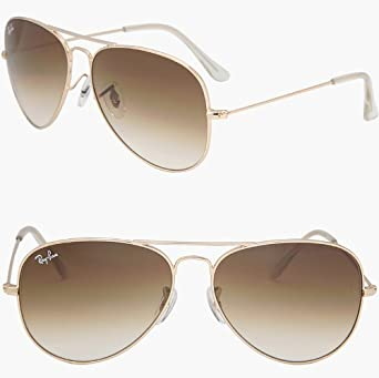 ray ban aviator sonnenbrille sunglasses geld braun. Black Bedroom Furniture Sets. Home Design Ideas
