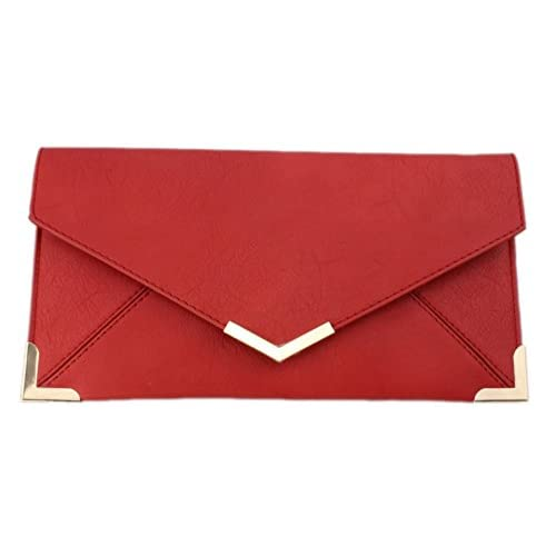 Girly HandBags New Neon Nude Ladies Clutch Bag Vintage Envelope Gold Trim Flat Small Summer