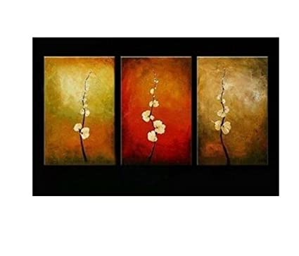 Abstract Wall Art on Canvas on Canvas 3 Piece Wall Art