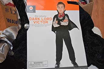 Boys DARK LORD VICTOR Halloween Costume Vampire Medium 6-8
