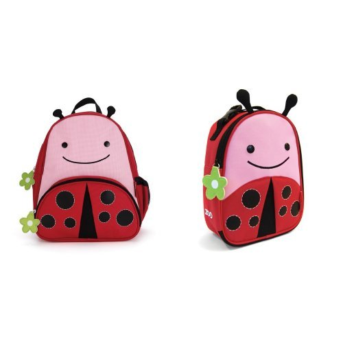 Skip Hop Zoo Backpack and Lunchie Set, Ladybug - 1
