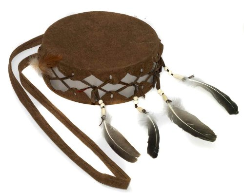 [Forum Novelties Men's Native American Indian Drum Costume Accessory, Brown, One Size] (Mens Indian Costumes)