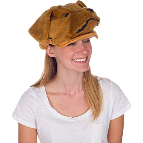 Rittle Golden Retriever Dog Animal Hat, Realistic Costume Headwear