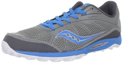 Saucony Women's Progrid KinvaraTR Trail Running Shoe,Grey/Blue,8.5 M US