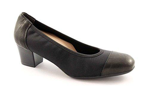 GRUNLAND TORO SC1711 nero scarpe donna decolletè elasticizzato 39