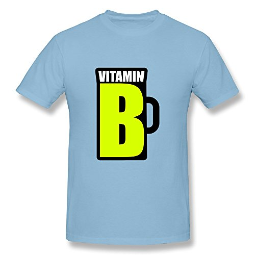 Nasy Men'S Vitamin B Cotton Short Sleeve T Shirt S Sky Blue