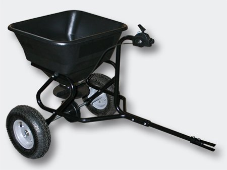 Wiltec Broadcast Spreader 30 kg with pneumatic tyres, for ride-on mower