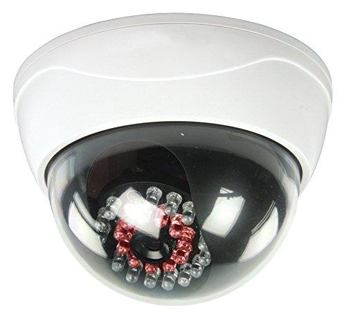 König Dome Überwachungskamera Attrappe mit 25 IR-LEDs