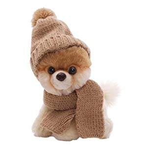 """The World'S Most Huggable Since 1898 - Gund 5"""" Itty Bitty Boo in Knit Scarf and Cap Plush"""